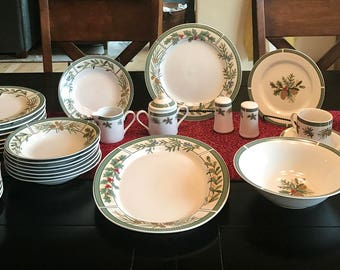 Vintage 47 Piece Fairfield China Set in Wintergreen Pattern / Service for 8 / Hostess Set & China set   Etsy