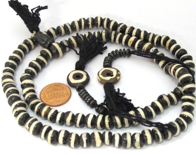 108 Mala bone beads - Tibetan 108 bone mala beads supply 8 mm size with Guru bead and counter supplies - ML057A