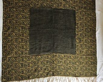 Vintage Made in France soft wool shawl