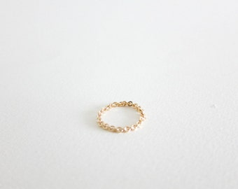 Chain Ring // Gold filled chain ring