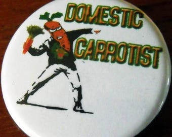 DOMESTIC CARROTIST  pinback buttons badges pack!
