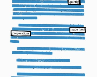 Preparations-Blackout Poetry C-Print by Staunch Studio 8x10