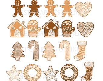 80% OFF SALE Commercial use Christmas Clipart Gingerbread clipart Gingerbread baby Clipart Ginger bread cookie clipart, Cookie clipart  BGO3
