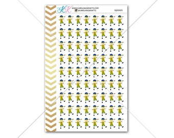 Blonde Boy Scout Stickers, Cub Scout Sticker for planner, calendar, etc! Functional planner stickers to help organize your life! #SQ00005