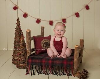 Taralynn Romper - red romper - knit romper - knit photo prop - girl knit romper - vintage knit romper - newborn romper