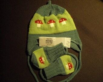 Baby Cap + gloves, baby cap + gloves