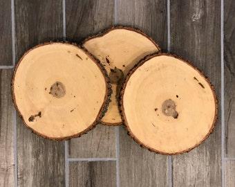 "1 Piece - 10-12"" Wood Slices I Wood Centerpiece I Wedding Centerpiece I Rustic Decor"