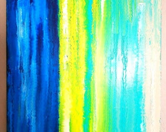 Abstract Acrylic Painting On Stretched Canvas 30x40
