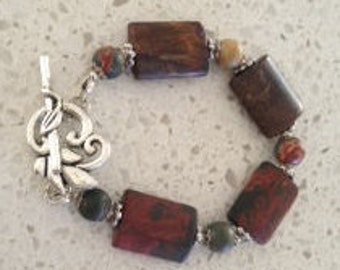 Picasso Jasper bracelet with stunning clasp