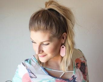 Pink Fringe Leather Drop Earrings, fringe earrings, leather fringe, fringe jewelry, pink jewelry, the leather drop