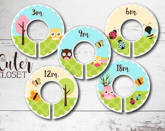 Baby Closet Dividers - Clothes Organizers - Daytime Flutters