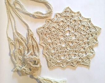 Pentagonal Dishcloth and Plant Holder Pattern