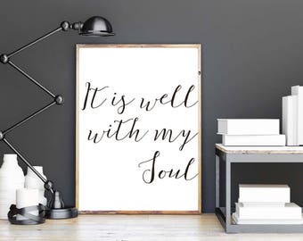 It Is Well Wall Art Instant Download
