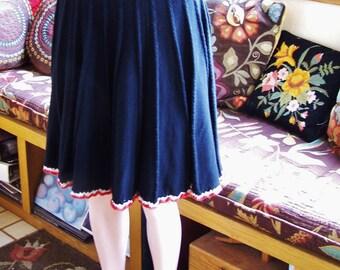 SALE, Skirt, Black, Knit, Vintage, Pleated skirt, size M