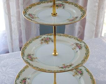 3 Tiered Noritake Arvana Cake Stand, Weddings, Luncheons, Gift