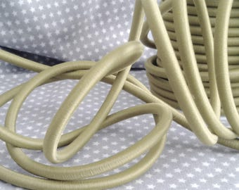 20 cm cord 5 mm silk, Khaki Green