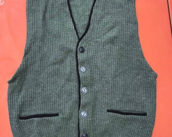 Vintage Sears Mens Sweater Vest