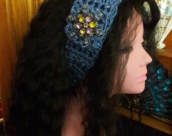 Wide Chunky Headband Head Wrap Ear Warmer Combination Neck Scarf