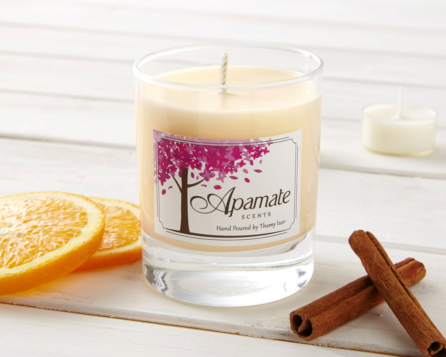 Vegan Candle With Sweet Orange Cinnamon Clove Aromatherapy Natural Soy Wax Scented Candles Vanilla Zoom