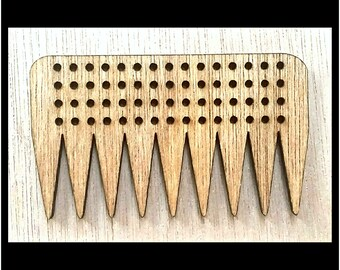 "Stitchable ""Freestyle"" Wooden Weaving Comb Beater DIY *Walnut/ Cherry/ Red Chestnut/ Jacobean Finish*"