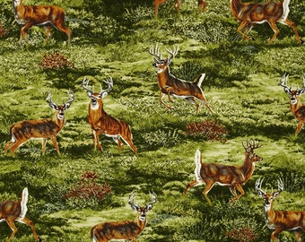 Bringing Nature Home Deer Cotton Fabric Robert Kaufman By the Yard