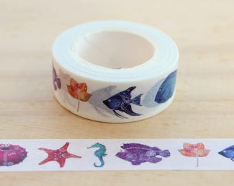 Aqua Washi tape masking tape, masking tape, decorative tape, scrapbooking