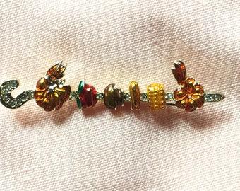 Vintage Kebab Brooch | Vintage Danecraft Pin | Kitschy Jewelry