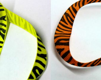 Ribbon 10mm grosgrain - Zebra - colours to choose from-sewing Scrapbooking card making-