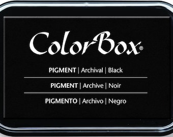 Colorbox ink - black black slow drying - 7.5 x 4.5 cm archive quality paper