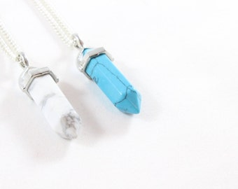 Howlite Crystal Necklace