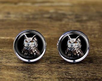 Owl cufflinks, Owl jewelry, Owl accessories