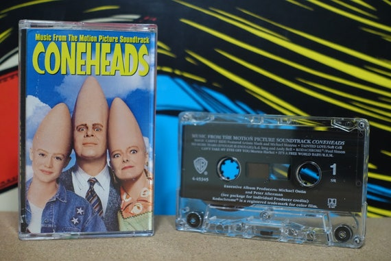 Music From The Motion Picture Soundtrack Coneheads by Various Artists Vintage Cassette Tape