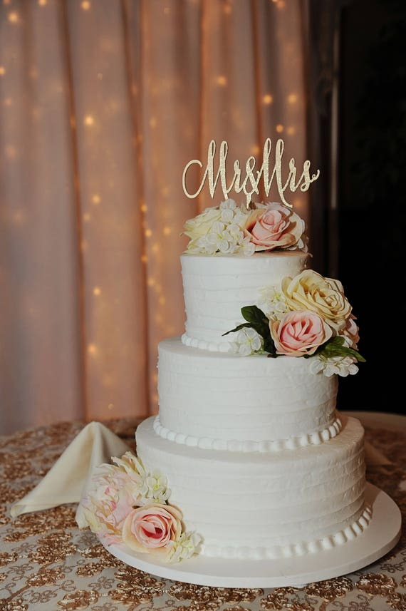 Mr and Mrs Cake Topper, Wedding Cake Topper, Gold Cake Topper, Rose Gold Cake Topper, Silver Cake Topper, Glitter Cake Topper, Rustic Cake