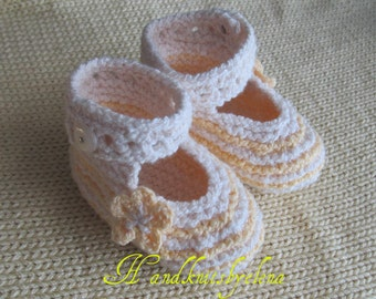 Knitting Pattern #24 Baby Booties 0-3, 3-6, 6-9 months
