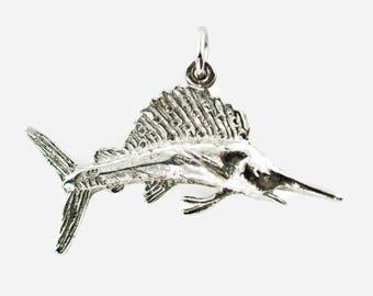 Vintage Sterling Silver Swordfish Charm