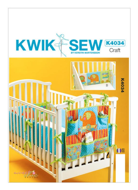 Sewing Pattern for Organizers and Crib Bumpers for Baby\'s Nursery ...