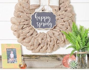 Spring Wreath For Front Door, Farmhouse Wreath, Easter Decorations, Summer Front Door Decorations