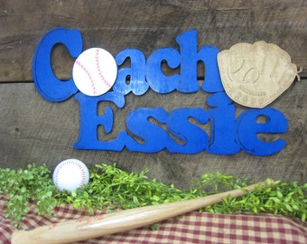 Custom Wood Cutout for Sports Person, Great Gift for Coaches, All Wood, Hand Painted, 3D effect with Balls