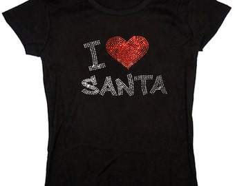 Ladies T-shirt / I love Santa