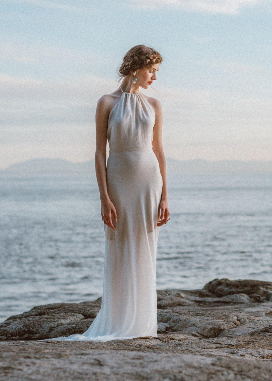 Backless Sheath Wedding Dress A simple wedding gown