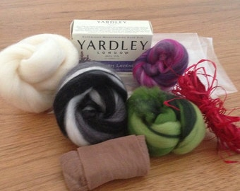 Felted Soap Kit With  instructions.