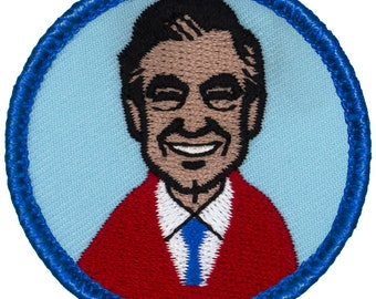 Mr. Rogers Patch (N41) 2 Inch Diameter Embroidered Patch 59156