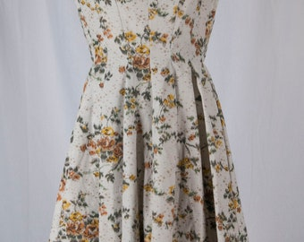 Gigi Young dress, 1950s, Missy, youth, party, day dress, short sleeved, full skirt, floral
