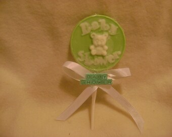 Chocolate Baby Shower Party Favor Lollipop