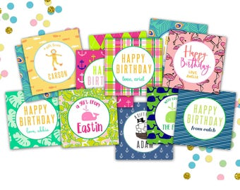 Custom Gift Tags // Personalized Gift Tags for Children // Birthday Gift Tags // Gift Enclosure Cards // Personalized Gift Tags