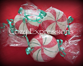 Christmas decoration | faux candy | holiday decoration | Christmas bowl fillers | Christmas ornaments | Peppermint Candy | Holiday candy