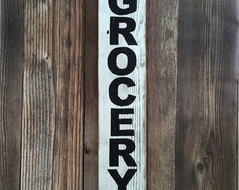 Grocery Hand Painted Farmhouse Wood Sign