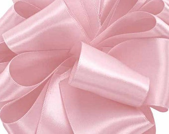 "Satin Ribbon, 5/8"", Light Mauve Pink Double Face - FIFTY YARD Roll - Offray ""Rosewater"" Double Sided Satin Wedding, Sewing Trim"