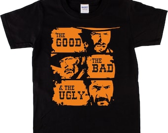 The Good The Bad & The Ugly T-Shirt - Classic Spaghetti Western Movie, Various Colours