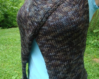 Pattern - Knitted Trapezoid Wrap, Worsted